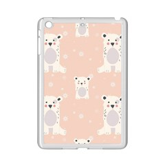 Cute Polar Bear Pattern Ipad Mini 2 Enamel Coated Cases