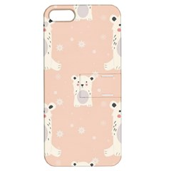 Cute Polar Bear Pattern Apple Iphone 5 Hardshell Case With Stand