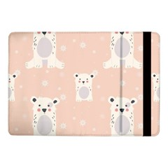 Cute Polar Bear Pattern Samsung Galaxy Tab Pro 10 1  Flip Case