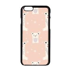 Cute Polar Bear Pattern Apple Iphone 6/6s Black Enamel Case