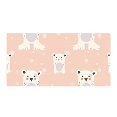 Cute Polar Bear Pattern Satin Wrap