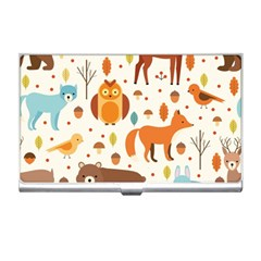 Woodland Friends Pattern Business Card Holders