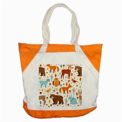 Woodland Friends Pattern Accent Tote Bag