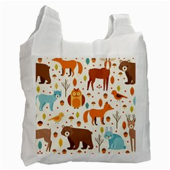 Woodland Friends Pattern Recycle Bag (one Side)