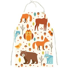 Woodland Friends Pattern Full Print Aprons
