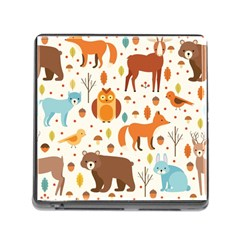 Woodland Friends Pattern Memory Card Reader (square)