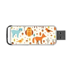 Woodland Friends Pattern Portable Usb Flash (two Sides)