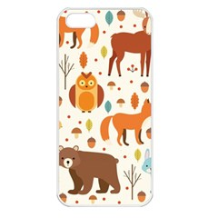 Woodland Friends Pattern Apple Iphone 5 Seamless Case (white)
