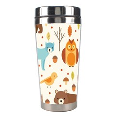 Woodland Friends Pattern Stainless Steel Travel Tumblers