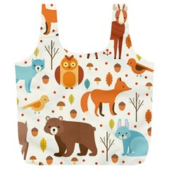 Woodland Friends Pattern Full Print Recycle Bags (l)