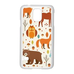 Woodland Friends Pattern Samsung Galaxy S5 Case (white)