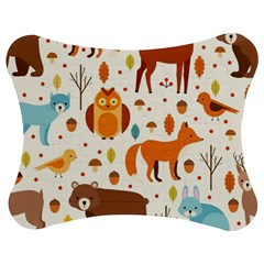Woodland Friends Pattern Jigsaw Puzzle Photo Stand (bow)