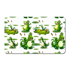 Crocodiles In The Pond Magnet (rectangular)