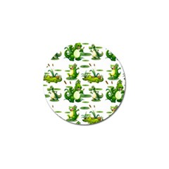 Crocodiles In The Pond Golf Ball Marker
