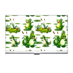 Crocodiles In The Pond Business Card Holders