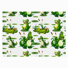 Crocodiles In The Pond Large Glasses Cloth