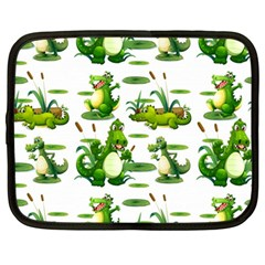 Crocodiles In The Pond Netbook Case (large)