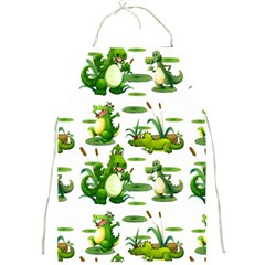 Crocodiles In The Pond Full Print Aprons