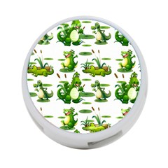 Crocodiles In The Pond 4 Port Usb Hub (one Side)