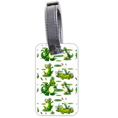 Crocodiles In The Pond Luggage Tags (one Side)