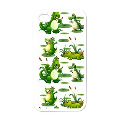 Crocodiles In The Pond Apple Iphone 4 Case (white)