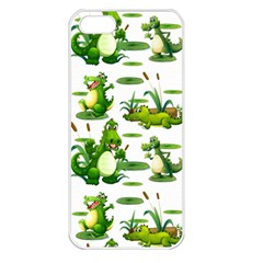 Crocodiles In The Pond Apple Iphone 5 Seamless Case (white)