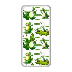 Crocodiles In The Pond Apple Iphone 5c Seamless Case (white)