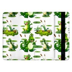 Crocodiles In The Pond Samsung Galaxy Tab Pro 12 2  Flip Case