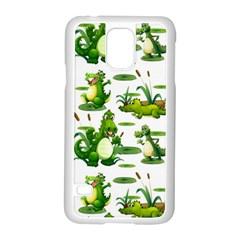Crocodiles In The Pond Samsung Galaxy S5 Case (white)