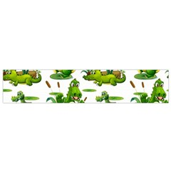 Crocodiles In The Pond Small Flano Scarf