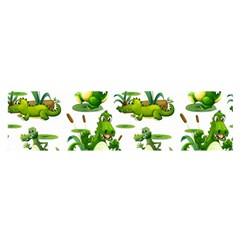 Crocodiles In The Pond Satin Scarf (oblong)