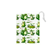 Crocodiles In The Pond Drawstring Pouches (xs)