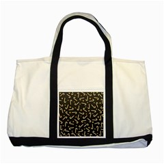 Golden Candycane Dark Two Tone Tote Bag
