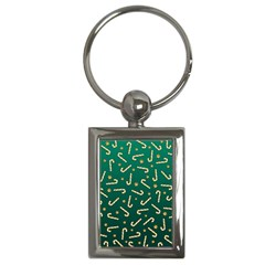 Golden Candycane Green Key Chains (rectangle)