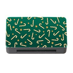 Golden Candycane Green Memory Card Reader With Cf