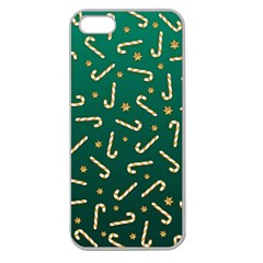 Golden Candycane Green Apple Seamless Iphone 5 Case (clear)