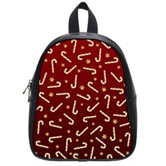Golden Candycane Red School Bag (small)