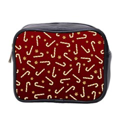 Golden Candycane Red Mini Toiletries Bag 2 Side