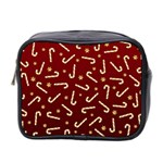 Golden Candycane Red Mini Toiletries Bag 2-Side Front