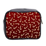 Golden Candycane Red Mini Toiletries Bag 2-Side Back