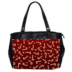 Golden Candycane Red Office Handbags (2 Sides)