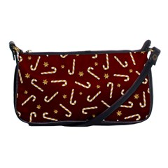 Golden Candycane Red Shoulder Clutch Bags