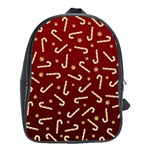 Golden Candycane Red School Bag (XL) Front
