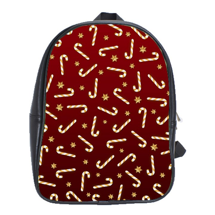Golden Candycane Red School Bag (XL)