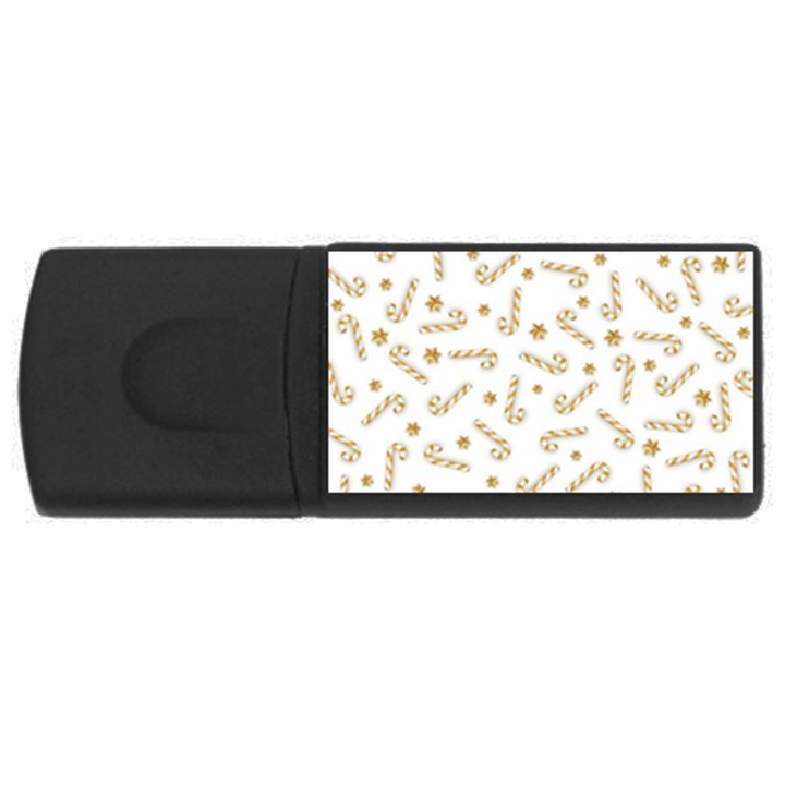 Golden Candycane Light Rectangular USB Flash Drive