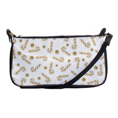 Golden Candycane Light Shoulder Clutch Bags
