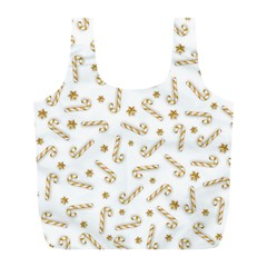 Golden Candycane Light Full Print Recycle Bags (l)