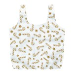 Golden Candycane Light Full Print Recycle Bags (L)  Front