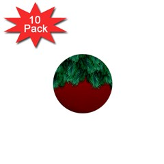 Xmas Tree 1  Mini Buttons (10 Pack)