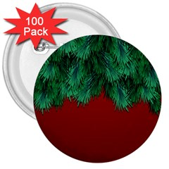 Xmas Tree 3  Buttons (100 Pack)